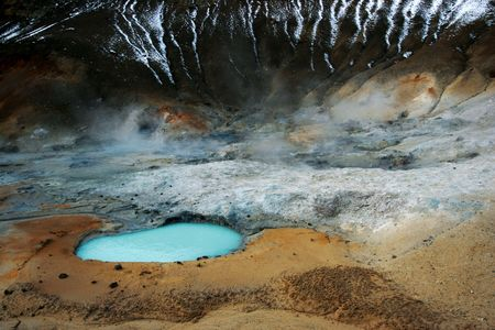 Out of this world landscape - this is taken in Iceland in a geothermal spot with various hotsprings Stock Photo - 371469