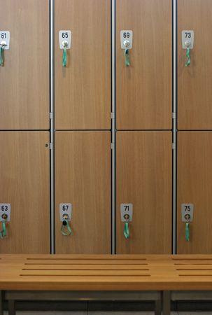 teammate: Lockers in a locker room