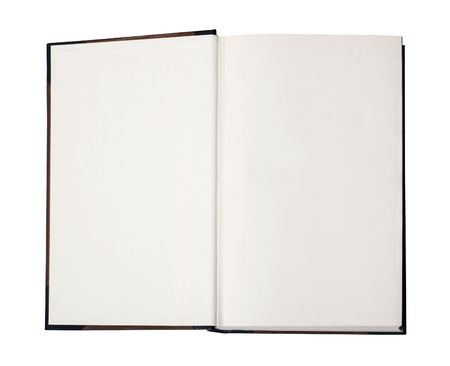 contains: Open book with empty pages - image contains a clipping path