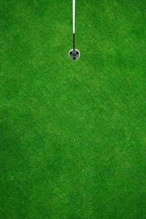 Picture perfect golfhole seen from above Stock Photo - 430928