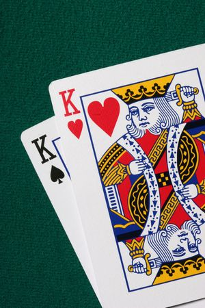 jack pot: Pocket kings - a very strong hand in texas holdem poker Editorial