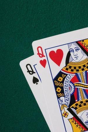 jack pot: Pocket reinas - buena base de partida en mano de p�quer Texas Hold'em  Editorial