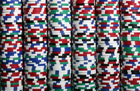 Multi colored chips stacked up Stock Photo - 474502