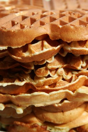 Delicious stack of waffles photo