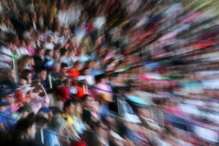 Crowd in a stadium - motion blurred