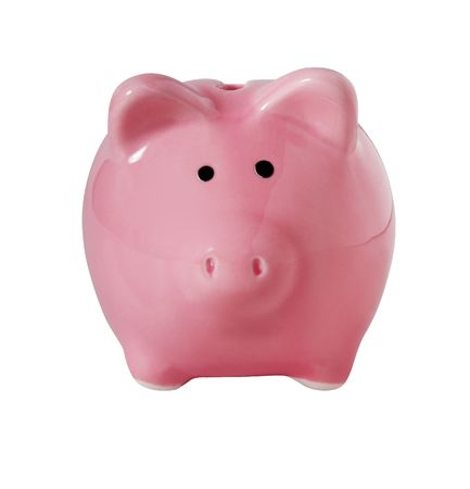 piggybank: Traditional piggybank isolated on white with clipping path