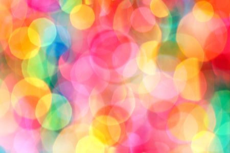 emitting: Colorful and defocused lights - perfect for chrismas use or as a psychadelic background Stock Photo