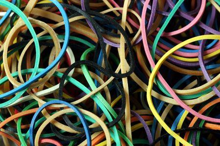 rubberband: Close-up de la banda de goma el�stica - ideal como un negocio o la oficina de antecedentes Foto de archivo