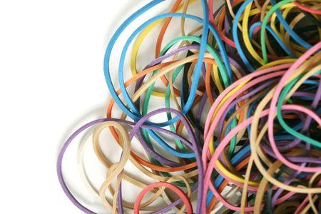 rubberband: Close-up de la banda de goma el�stica - perfecto como un negocio o la oficina de antecedentes