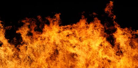 Very large file of stop motion real flames against a black background photo