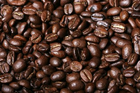 Background of delicious freshly roasted coffee beans Stock Photo - 844944