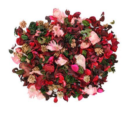 arreglo floral: Hermoso arreglo floral seco aislados en blanco  Foto de archivo
