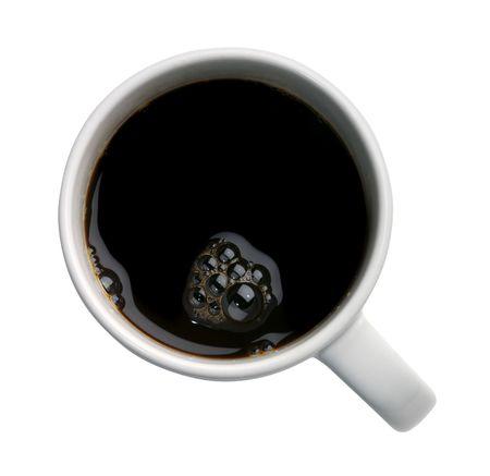 Frische Tasse Kaffee isoliert auf weißem