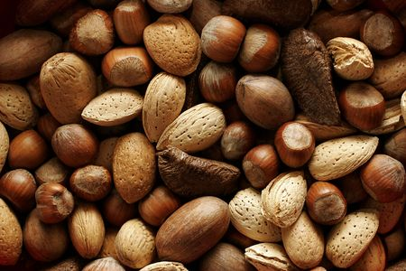 sorts: Food background with various sorts of nuts