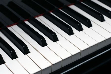 ivories: ebony and ivory piano keys on a high quality grand piano Stock Photo