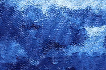 Close-up eines Öl-Leinwand gemalt - Textur und Pinselstriche gut sichtbar  Standard-Bild