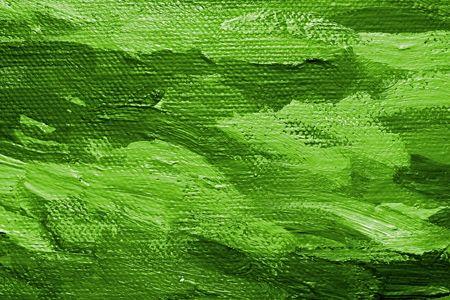 Nahaufnahme eines Öl bemalten Leinwand - Textur und Pinselstriche gut sichtbar  Standard-Bild