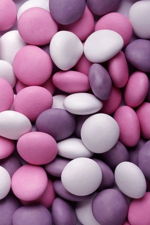 Close-up der Hintergrund der Multi farbigen Pralinenherstellung Standard-Bild
