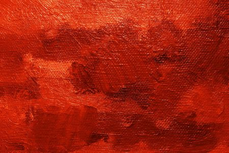 brush stroke: Close-up of a oil painted canvas - texture and brush strokes well visible
