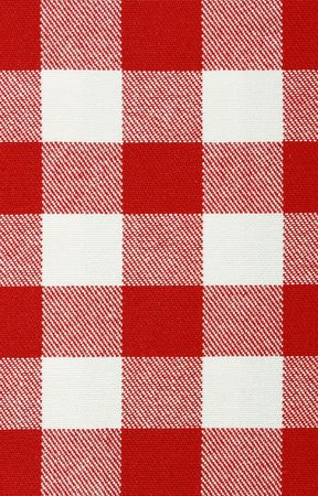 Close-up of classic red picnic cloth - The tablecloth is new, clean and flat Stock Photo