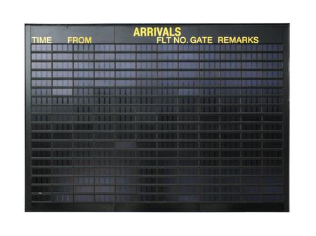 Lege lucht haven bestuur geïsoleerd op witte achtergrond