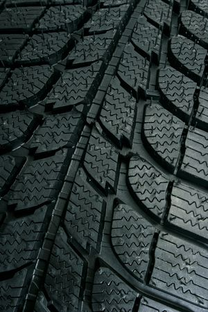 winter tires: Brand new tire pattern Stock Photo