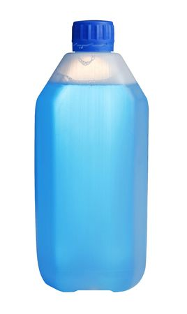 Plastic blank container filled with blue liquid Stock Photo - 2215172