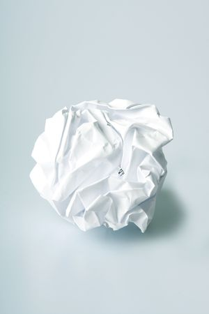 Crumpled paper wad after brainstorming Stock Photo - 2344514