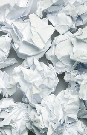 Crumpled paper wads after brainstorming Stock Photo - 2344516