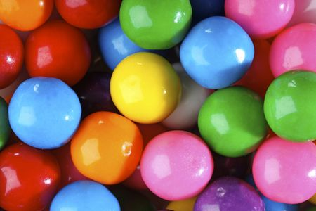 gums: Multicolored bubble gum candy background