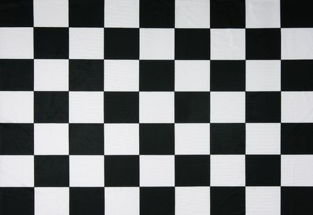 This is a real checkered flag of high quality - texture details in the material Stock Photo - 2610993