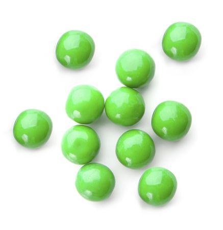 bubblegum: green bubble gum balls isolated on white