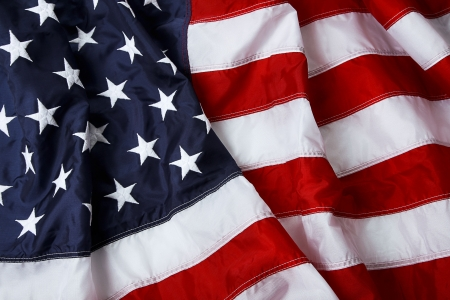 fourth july: American flag background - shot and lit in studio