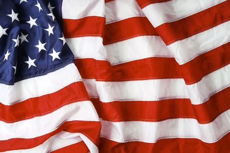 American flag background - shot and lit in studio Stock Photo - 2610979