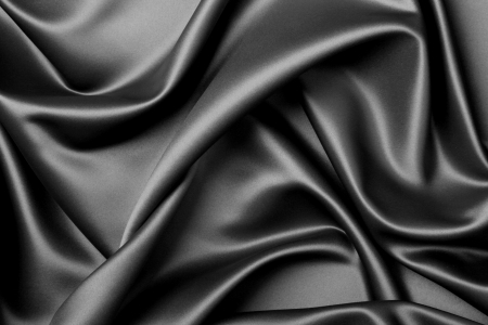 black silk: Beautiful and smooth satin background Stock Photo