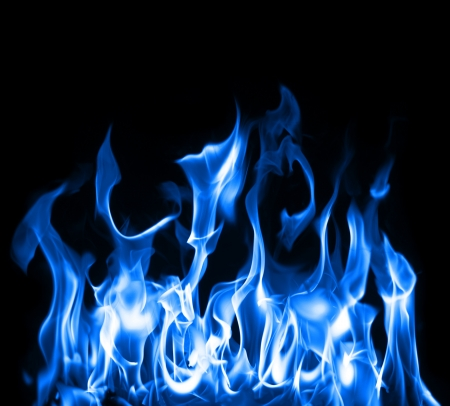 gas stove: Beautiful stop-motion photo of blue flames