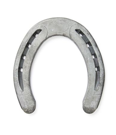 Lucky horseshoe isolated on white background - Shot in studio with a 21.1 Megapixel camera