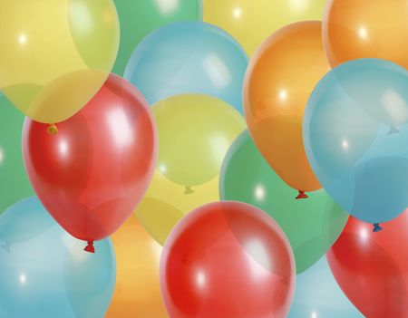 Background of colorful party balloons - XXL file - balloons shot with a high resolution camera (21 megapixel) Stock Photo