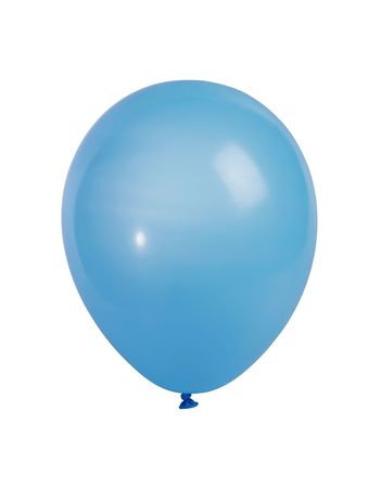 Studio shot of a blue balloon isolated on white background - XXL file shot with a high resolution camera (21 megapixel)