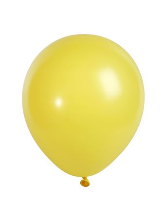 megapixel: Studio shot of a yellow balloon isolated on white background - XXL file shot with a high resolution camera (21 megapixel) Stock Photo