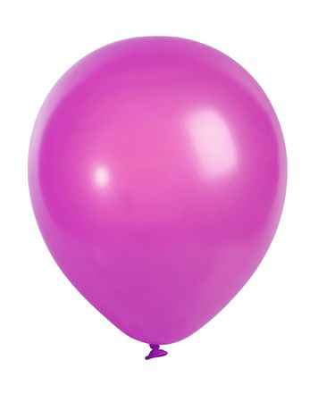 megapixel: Studio shot of a pink balloon isolated on white background - XXL file shot with a high resolution camera (21 megapixel)