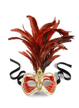 masque de venise: Decorative masque carnaval v�nitien isol� sur fond blanc Banque d'images