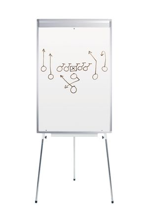 Whiteboard with football play isolated on white Stock Photo - 6157555