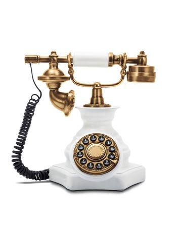 Old fashioned phone isolated on white background Standard-Bild