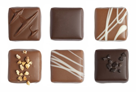 Handmade luxury chocolate isolated on white background Standard-Bild