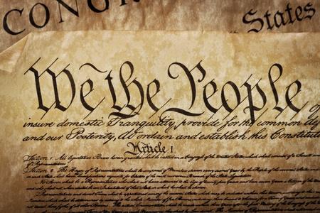 united  states of america: La Costituzione degli Stati Uniti d'America Archivio Fotografico