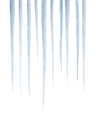 Real photograph of isolated icicles - not a 3D render
