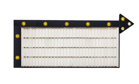 Insert your own message onto this blank retro marquee sign