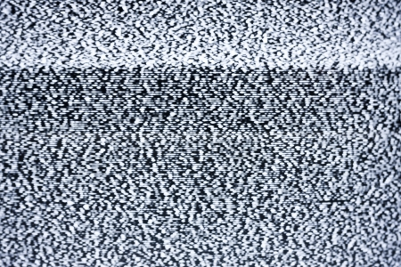 static: Analog television with white noise Stock Photo