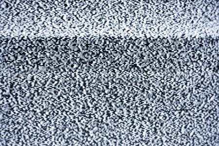 television antigua: Televisi�n anal�gica con ruido blanco